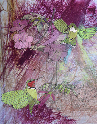 Watercolor Mixed Media - Humming Bird by Donna Walsh
