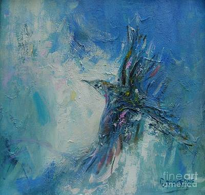Blue Painting - Humming Bird by Grigor Malinov