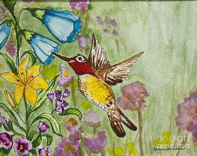Painting - Humming Bird by Janis Lee Colon