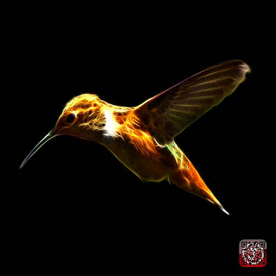 Digital Art - Hummingbird - 2054 F by James Ahn