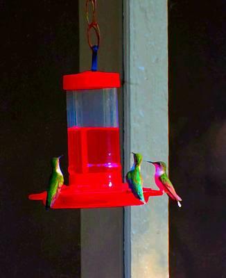 Superhero Ice Pop - Hummingbird Art 184 by Lawrence Hess