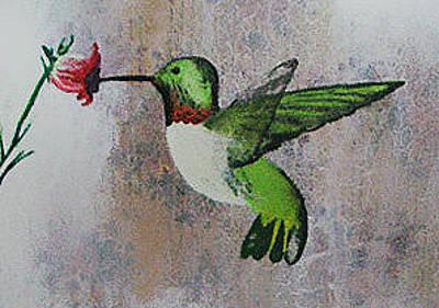 Painting - Hummingbird by Cynthia Hilliard