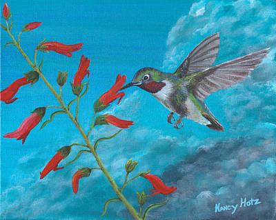 Painting - Hummingbird Dreams by Nancy Hotz