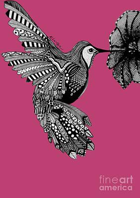 Hummingbird Flight 5 Art Print by Karen Larter