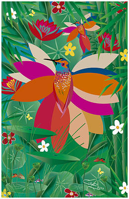 Hummingbird - Limited Edition  Of 10 Art Print
