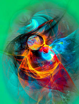 Abstract Digital Art - Hummingbird by Modern Art Prints