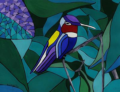 Painting - Hummingbird Hamlet by Barbara St Jean