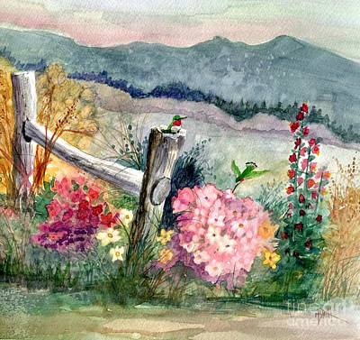 Painting - Hummingbird Haven by Marilyn Smith