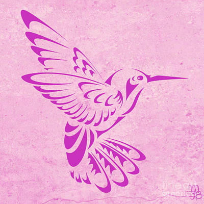 Digital Art - Hummingbird In Purple by Mindy Bench