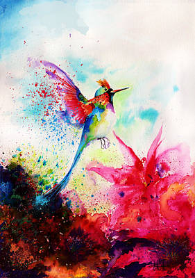 Surrealistic Painting - Hummingbird by Isabel Salvador