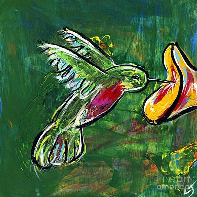 Hummingbird Iv Art Print by Lovejoy