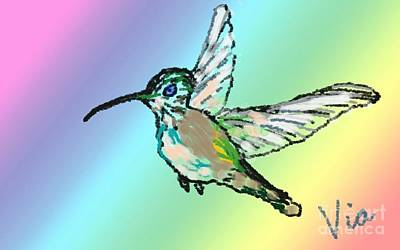 Painting - Hummingbird  by Judy Via-Wolff
