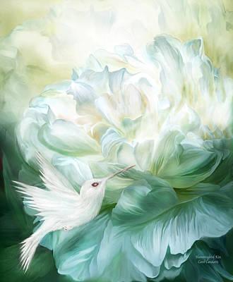 Mixed Media - Hummingbird Kiss by Carol Cavalaris