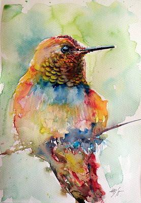 Annas Hummingbirds Wall Art - Painting - Hummingbird by Kovacs Anna Brigitta