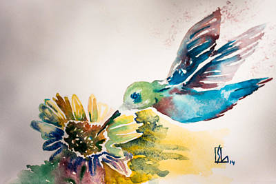 Painting - Hummingbird by Lee Stockwell