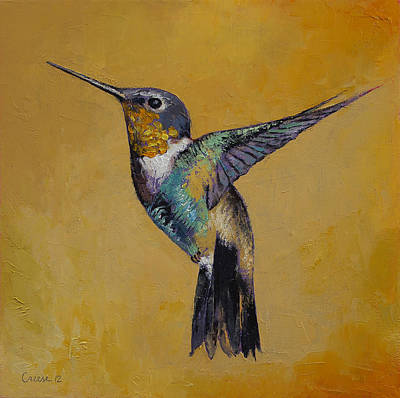 Hummingbird Art Print by Michael Creese