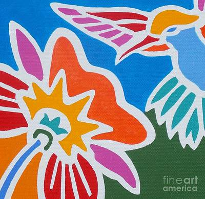 Painting - Hummingbird Number One by Stephen Davis