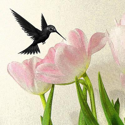 Hummingbird Art Print by Sharon Lisa Clarke
