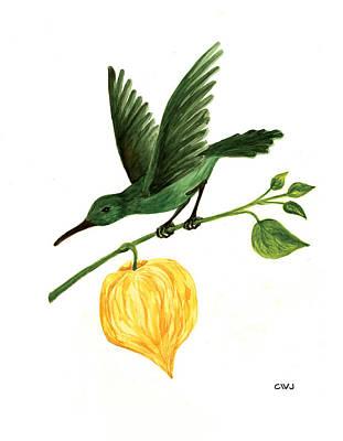 Painting - Hummingbird With A Lantern by Cynda Warren Joyce