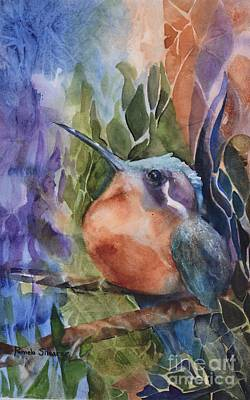 Painting - Hummingbirds - Morning Sun by Pamela Shearer