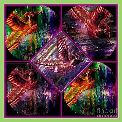 The Nature Center Painting - Hummingbirds Far Out And Groovy Man by Kimberlee Baxter
