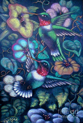 Pastel - Hummingbirds by Gary Renegar