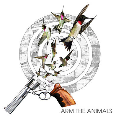 Hummingbullets White Original by Arm The Animals