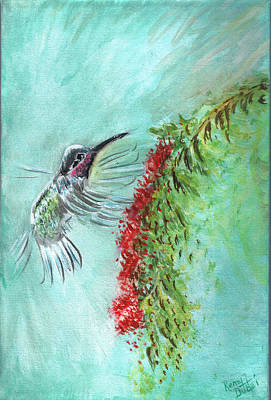 Painting - Hummingbird Bird by Remy Francis