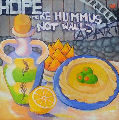 Painting - Hummus Behind A Wall by Corey Habbas