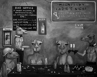 Hump Painting - Hump Day Bw by Leah Saulnier The Painting Maniac