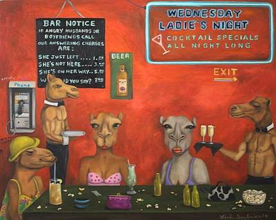 Hump Painting - Hump Day  by Leah Saulnier The Painting Maniac