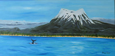 Sitka Painting - Humpback Fluke In Beautiful Sitka by Sally Jones