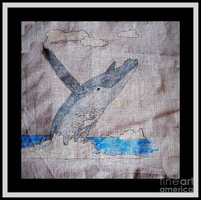 Humpback Whale Drawing - Humpback Whale by Barbara Griffin
