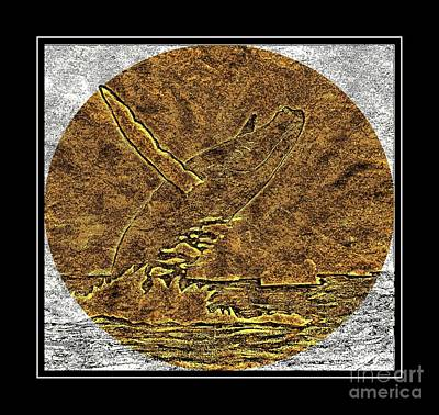Brass Etching Photograph - Humpback Whale - Brass Etching by Barbara Griffin