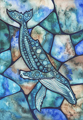 Psychedelic Painting - Humpback Whale by Tamara Phillips
