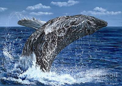 Endangered Wildlife Painting - Humpback Whale by Tom Blodgett Jr