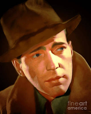 Maltese Digital Art - Humphrey Bogart 20150307 by Wingsdomain Art and Photography