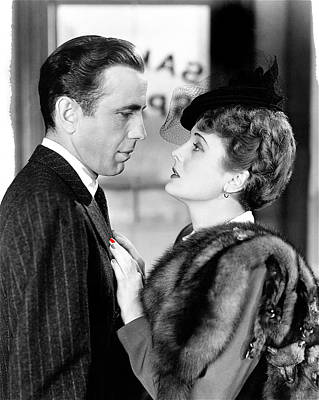 Maltese Falcon Photograph - Humphrey Bogart As Sam Spade With Mary Astor The Maltese Falcon Publicity Photo 1940-2013 by David Lee Guss