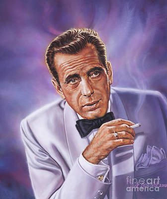 Painting - Humphrey Bogart by Dick Bobnick