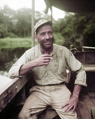 Humphrey Bogart In The African Queen  Art Print by Silver Screen