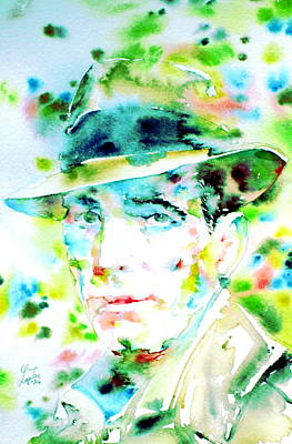 Humphrey Painting - Humphrey Bogart - Watercolor Portrait.2 by Fabrizio Cassetta