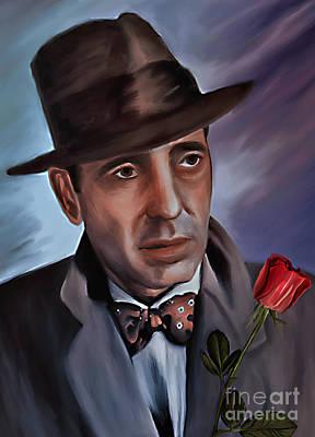 Casablanca Painting - Humphrey Deforest Bogart by Andrzej Szczerski