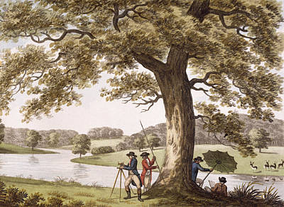 Alteration Drawing - Humphrey Repton Surveying by Humphry Repton