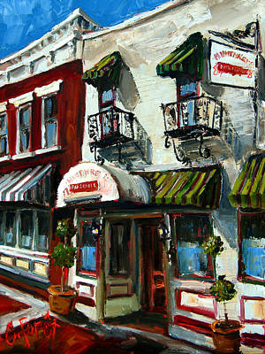 Humphrey Painting - Humphreys Bar And Grill by Carole Foret