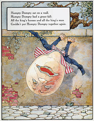 Mother Goose Photograph - Humpty Dumpty, 1915 by Granger