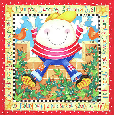 Nursery Rhyme Painting - Humpty Dumpty by P.s. Art Studios