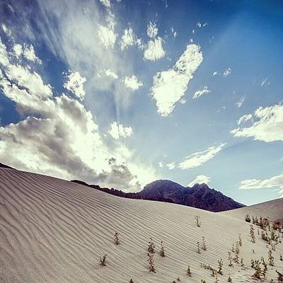 Desert Photograph - Sand And Clouds by Hitendra SINKAR