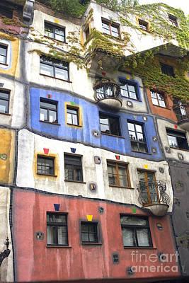 Hundertwasserhaus Vienna Art Print by Julie Woodhouse