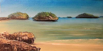 Painting - Hundred Islands In Philippines by Remegio Onia