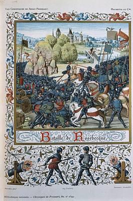 Infantryman Photograph - Hundred Years War. Battle Of Roosebeke by Everett